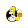 """Купить значок """"Homer Simpson"""" 23 мм на одежду в Минске"""