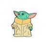 """Купить значок """"Baby Yoda"""" 36 мм на одежду в Минске"""
