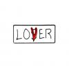 """Купить значок """"Lover-ОНО"""" 25 мм на одежду в Минске"""