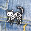 """Купить значок """"Скелет кота"""" на одежду в Минске"""