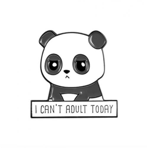 "Купить значок ""I can't adult today"" на одежду в Минске"