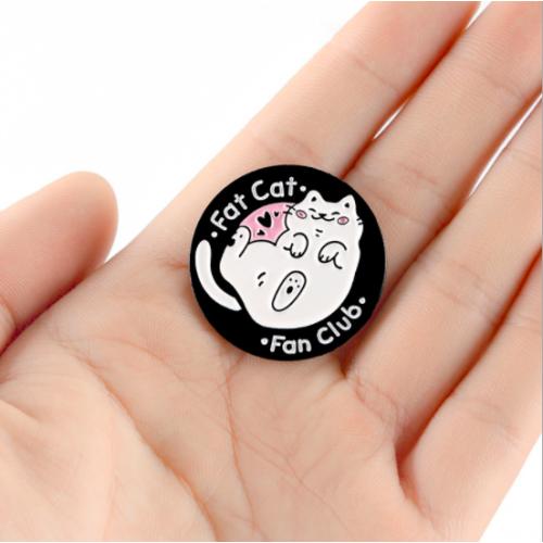 """Купить значок """"Fat cat"""" на одежду в Минске"""