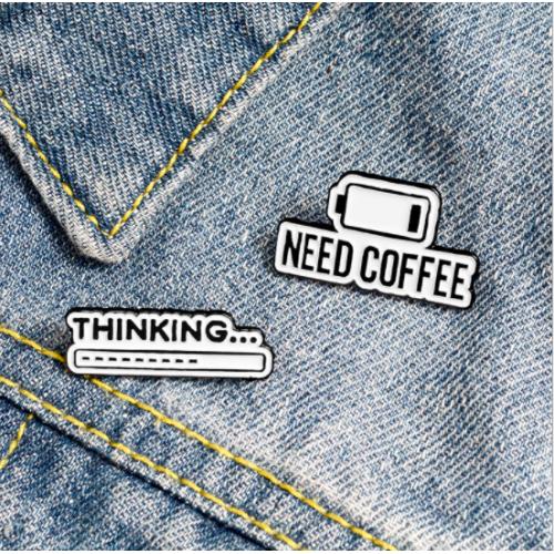 "Купить значок ""need Coffee"" на одежду в Минске"