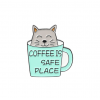 """Купить значок """"Coffee is safe place"""" на одежду в Минске"""
