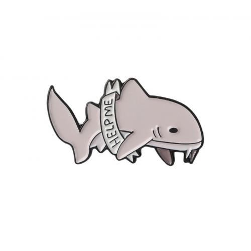 """Значок акула """"Help me""""  10 х 25 мм"""