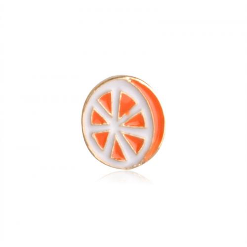 Купить значок апельсин  25 х 20 мм на одежду в Минске