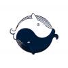 """Купить значок киты """"Инь Янь""""  25 х 33 мм на одежду в Минске"""