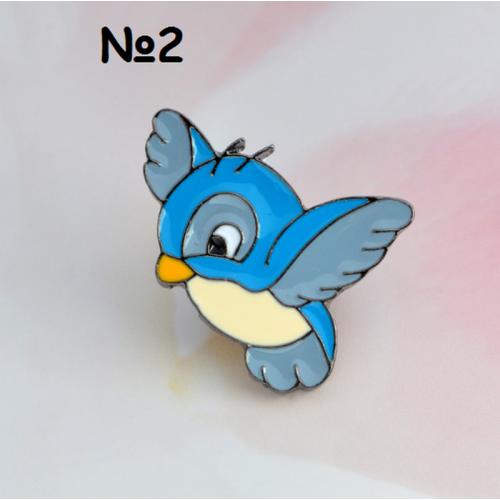 Купить значок птица 20 х 30 мм на одежду в Минске