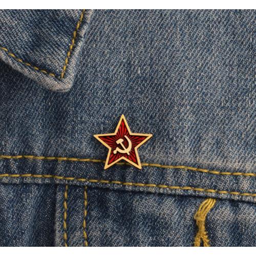"Купить значок ""Звезда""  20 х 20мм на одежду в Минске"