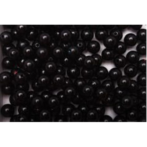 Купить бусины черные d 14 мм 20 шт в Минске