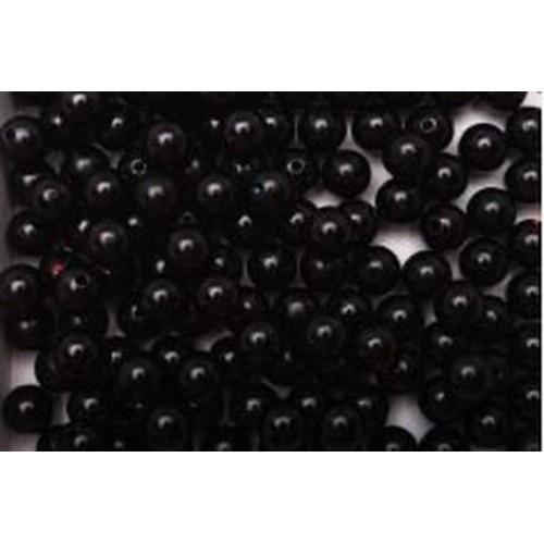 Бусины черные d 6 мм 20 шт
