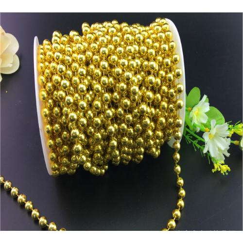 Купить бусины на нити, 10 мм золото/серебро в Минске