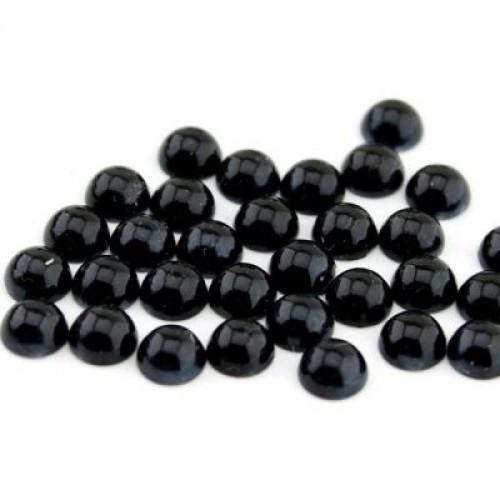 Купить полубусины клеевые черные d 7 мм в Минске