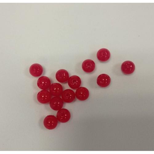Купить бусины красные жемчужные d 8 мм 10 гр в Минске
