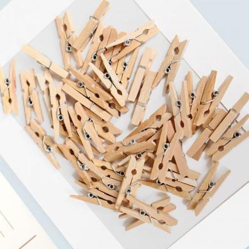 Декоративные деревянные прищепки 3 см