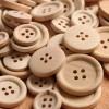 Купить Деревянные пуговицы неокрашенные, 18 мм в Минске