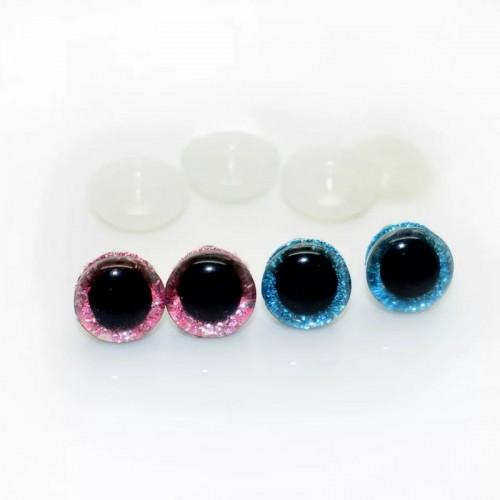 Купить блестящие глаза для игрушек d 16 мм  в Минске