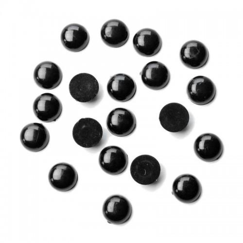 Купить  глаза для игрушек d 12 мм клеевые (черный) в Минске