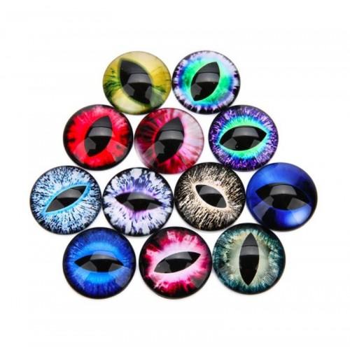 """Глаза для игрушек d 10 мм """"кошачьи"""" стекло"""