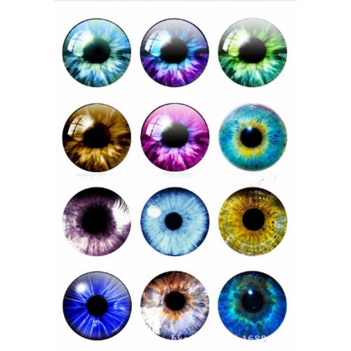 """Глаза для игрушек d 12 мм """"радужные"""" стекло"""