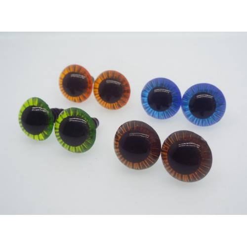 Купить живые глаза для игрушек d 15 мм винтовые в Минске