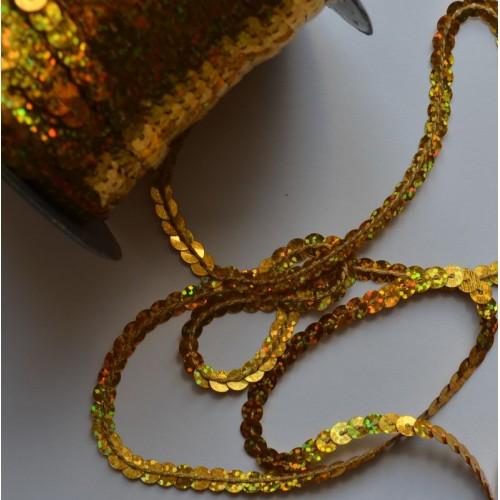 Пайетки на нитях 6 мм