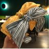 Купить обруч для волос в текстильной оплетке с бантом в Минске