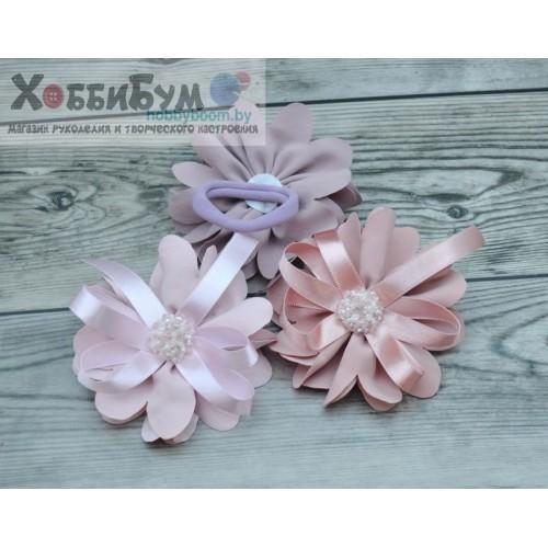 Купить резинка для волос с цветком и бантом 11см в Минске