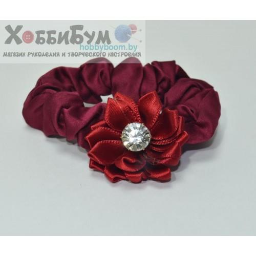 """Резинка для волос с украшением """"цветок"""""""