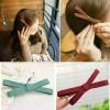 Купить заколка для волос бантик, металл/текстиль в Минске
