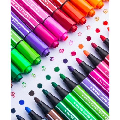Набор фломастеров со штампами (24 цв)