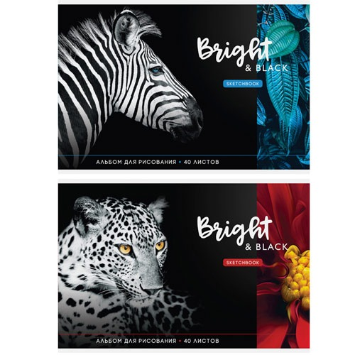 """Альбом для рисования """"Животные. BRIGHT&BLACK"""" в Минске"""