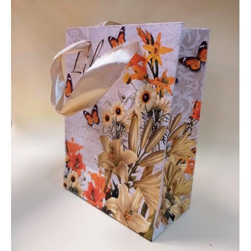"""Пакет подарочный  Darvish """"Лилия"""" (12*16*6.5 см)"""