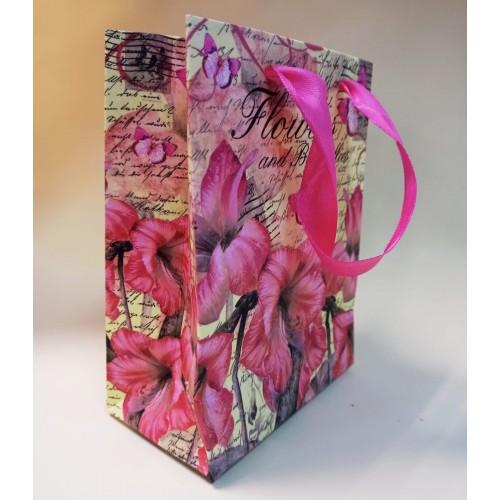 """Пакет подарочный """"Цветы и бабочки"""""""