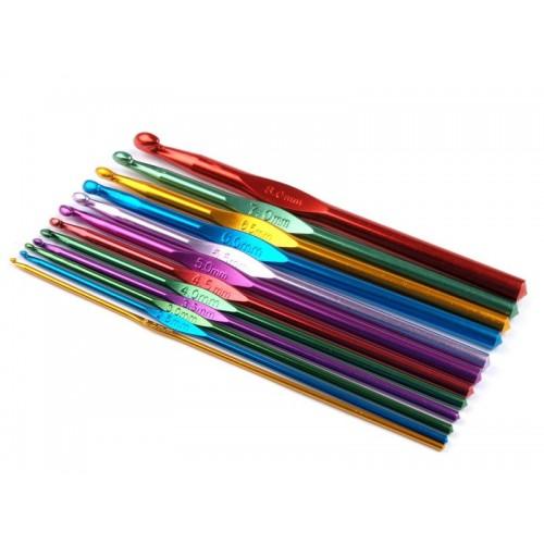 Купить крючок для вязания металл d 8.00 - 10.00 мм 15 см в интернет-магазине