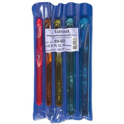 """Купить крючок для вязания пластик d 8-15 мм """"Gamma"""" в интернет-магазине"""
