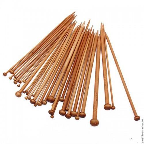 Купить спицы прямые бамбук d 2.0-2.25 мм 36 см в Минске