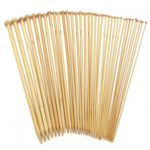Купить спицы прямые бамбук d 4.5 мм 36 см в Минске
