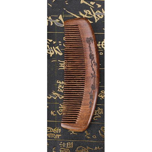 Купить расческу для волос из сандалового дерева с узкими зубьями в Минске