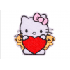 """Купить термонаклейка на одежду """"Hello kitty"""" 6.8х7 смв Минске"""