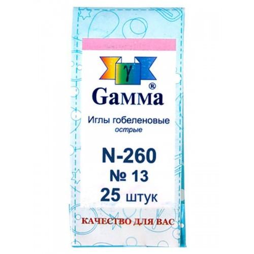 """Иглы для шитья ручные """"Gamma"""" гобеленовые №13 N-260"""