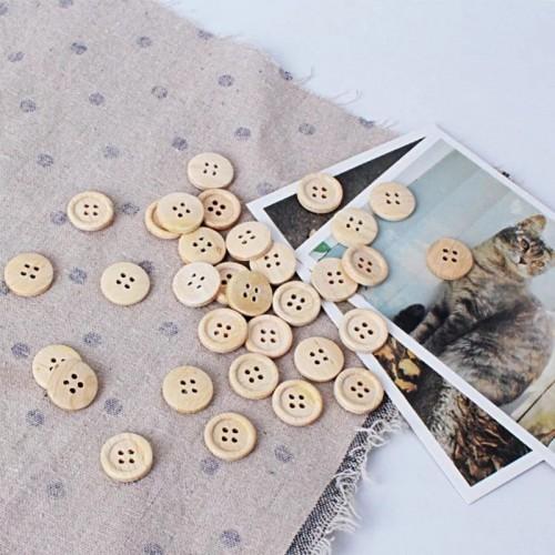 Купить деревянные пуговицы неокрашенные, 10 мм в Минске