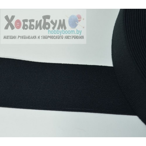 Лента эластичная бандажная 65 мм черный